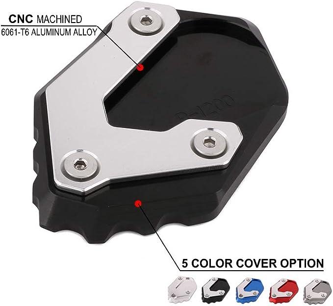 An Xin Motorrad Cnc Ständer Fuß Seitenständer Erweiterung Pad Unterstützung Platte Für Bmw R1200 Gs Lc 2013 2014 2015 2016 2017 Auto