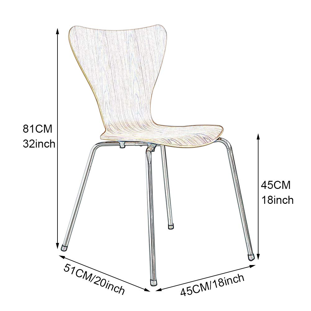 Matstolar – Nordeuropa moderna – trädgårdsstol balkong stol – sovrum vardagsrum restaurang café kök sidostol – med ryggstöd b