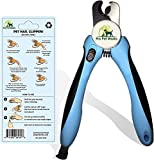 Professional Dog Nail Clippers and Trimmer - with Quick Safety Guard to Avoid Over-Cutting Toenail - Grooming Razor Sharp Blades for Small Medium Large Breeds (Blue)