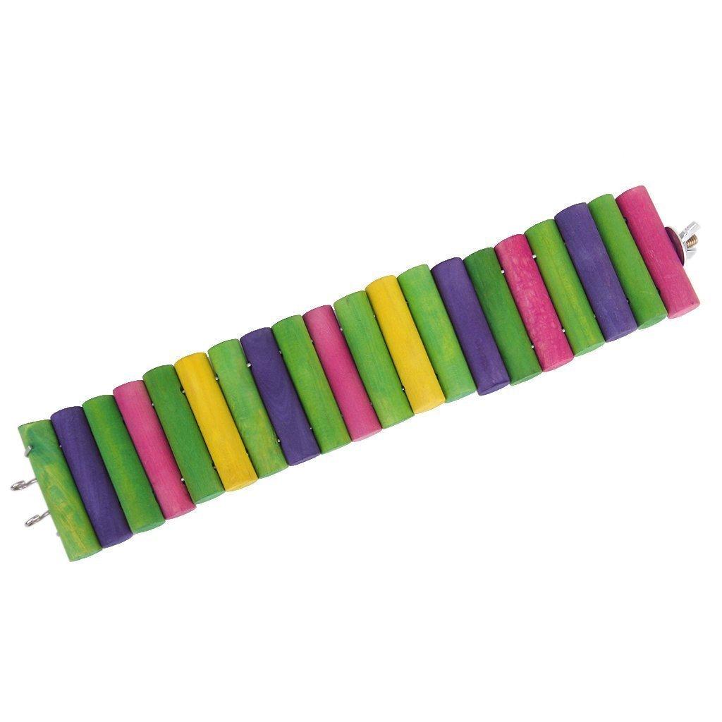 Beito Planche en bois multicolores Échelle pont pour animal domestique Play jouet pour hamster/gerbille/souris/rat/Little Parrot-6* 30cm