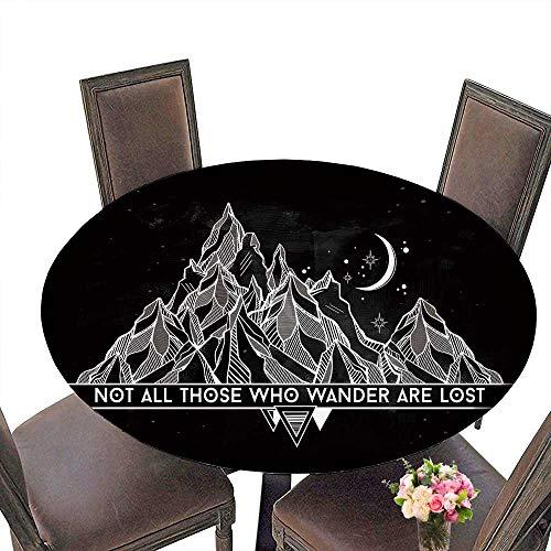 PINAFORE Circular Table Cover Elbische Namen mit eutung for Wedding/Banquet 31.5