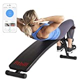 fitbill Sit Up Decline Bench with Face Recognition Technology and Coach Program Workout