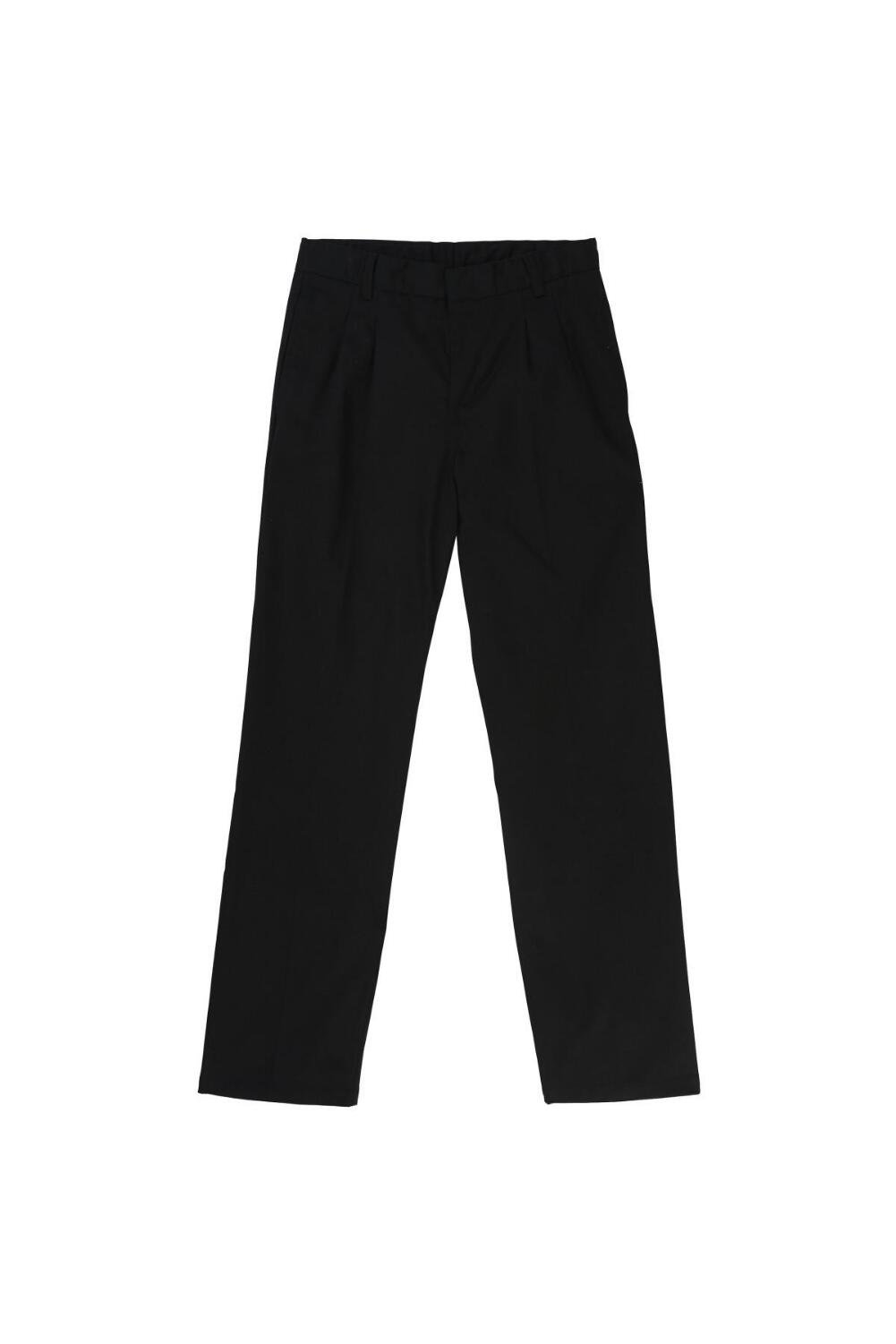 French Toast Big Boys' Relaxed Fit Pleated Pant, Black, 14
