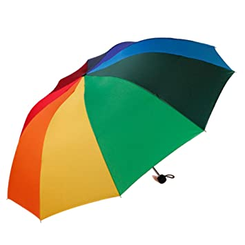 LEIU Paraguas Plegable Resistente al Viento Protección Solar sombrillas Paraguas Arco Iris