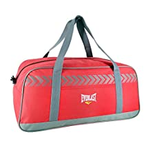 Everlast Medium Sports Holdall Bag Red/Grey Kitbag Gymbag Carryall Sportsbag