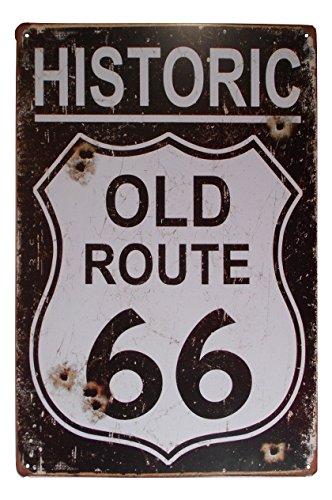 USA Historic Route 66 Tin Sign Bar Cafe Garage Wall Decor Retro Metal Art Poster