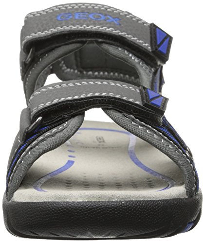 Geox J Sand Pianeta A - Sandalias Deportivas de material sintético niño gris - Gris (Grey/Royal)