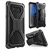 i-Blason Galaxy S8 Case, Transformer [Kickstand] [Heavy Duty] [Dual Layer] Combo Holster Cover case with [Locking Belt Swivel Clip] for Samsung Galaxy S8 2017 Release (Black)