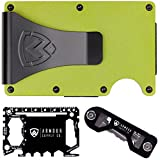 Armour RFID Wallets For Men - Slim Minimalist Tactical Smart Credit Card Holder - Includes Money Clip, Multitool & Key Holder (Green)