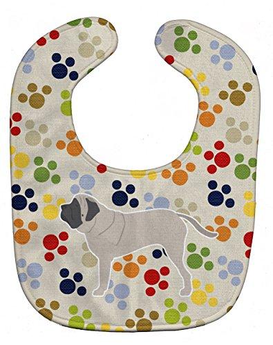 Caroline's Treasures Pawprints Baby Bib, English Mastiff,...