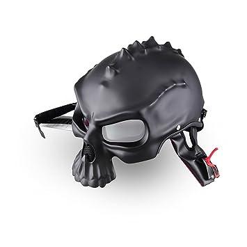 3d diseño de calavera motocicleta casco Spiker Open Face casco de doble uso de la mitad