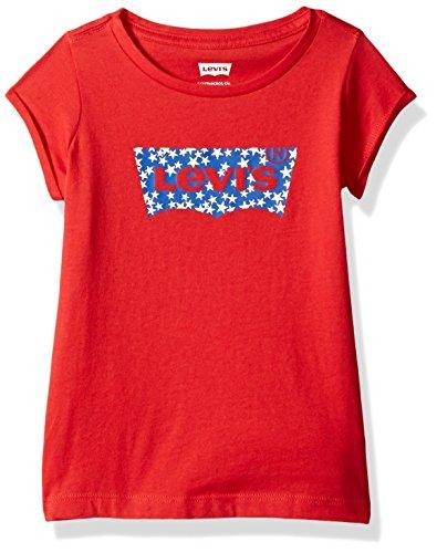 (Levi's Girls Batwing T-Shirt, Mars Red, 6 )