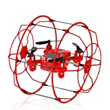 WensLTD Gift For Xmas! FY802 2.4GHz 4CH 6-Axis Mini Hybrid Car-Copter RC Quadcopter Red
