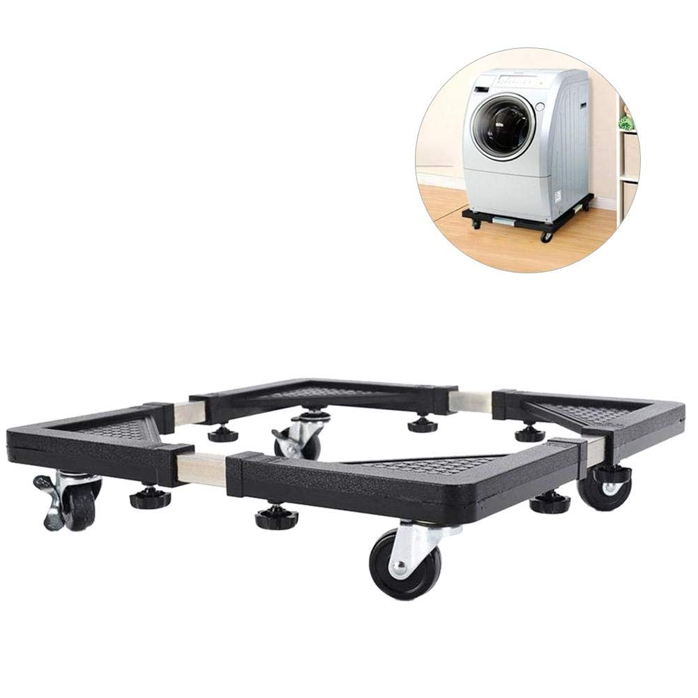 Refrigerator Base - Removibile Adjustable Dolly with 4 Wheels - Multi-Functional Movable Base for for Dryer, Washing Machine and Refrigerator