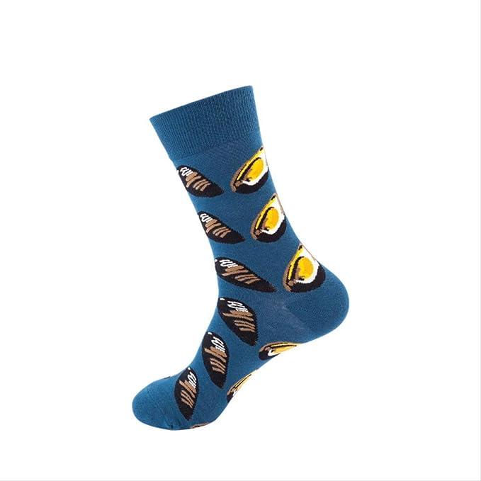 AYQX Calcetines de tubo de hombre, calcetines de sudor, monopatines, tubo, personalidad, medias, algodón, tubo alto, calcetines de hombre antifricción, código A 5 pares: Amazon.es: Ropa y accesorios
