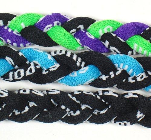 (NEW! Extreme Sports 3-Pack of Tornado Necklaces (Light Blue Black-Black-Neon Green Purple Black))