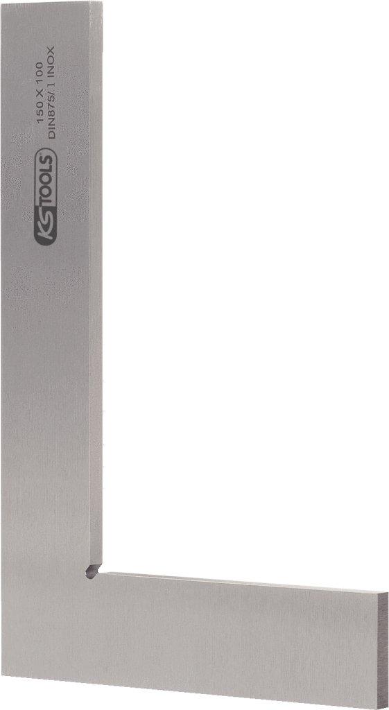 KS Tools 300.0200 Escuadra de Taller Lisa (Longitud de los Brazos 100 x 70 mm, secció n Transversal 20 x 5 mm, 100 mm), 100mm sección Transversal 20 x 5 mm 4042146067505