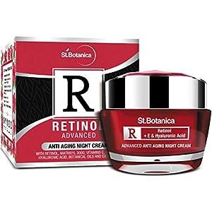 StBotanica Retinol Advanced Anti Aging Night Cream – With Retinol, Vitamin C & Botanical Extracts – Wakeup To Intensly…