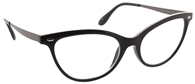 295af18e07 Fiore Multi Focus Progressive Reading Glasses 3 Powers in 1 (Cateye -  Black