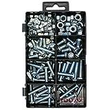 Small Machine Screws, Pan Head Phillips Bolt Screws and Nuts Assortment Kit, 126 Pack