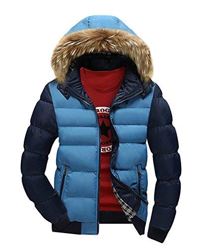 Invierno Abrigo hombre Parka para Chaqueta deportiva Capucha LaoZan Azul anorak Con abrigo R6wqdq5