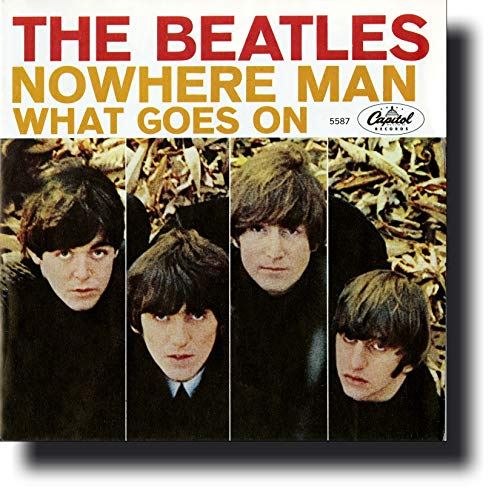 Sleeve Record Capitol - The Beatles Picture Sleeves: Nowhere Man, 1966 Rare USA Mono ORIGINAL NEW Old Store Stock 1st Pressing PS, Near MINT! Capitol Records 5587 (SIDE 2: What Goes On), Includes Letter/Certificate of Authenticity (LOA/COA) by Beatles4me