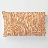 Carousel Designs Orange Woodgrain Toddler Bed Pillow Case with Pillow