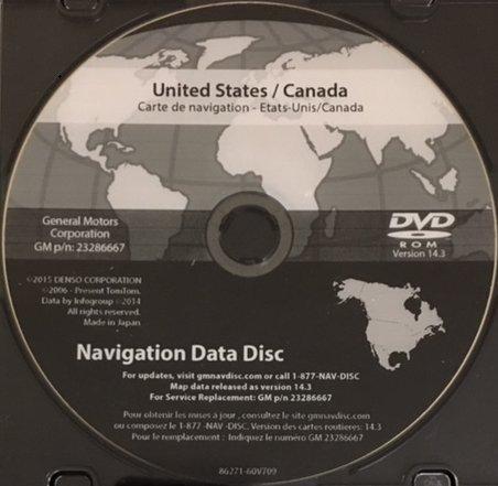 ck Chevrolet GMC Navigation DVD Map Update 14.3 23286667 ()