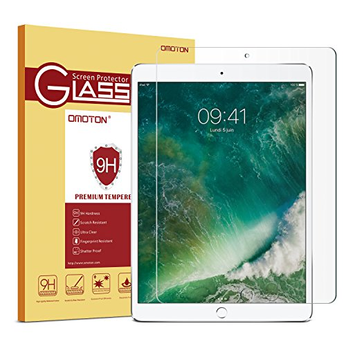OMOTON New iPad Pro 12.9 Screen Protector, Apple Pencil Compatible Tempered...