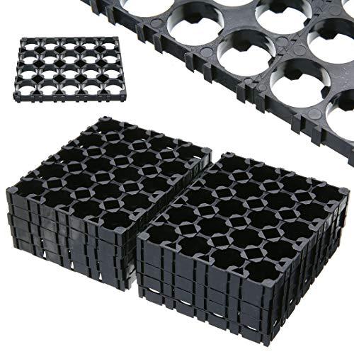 Sala-Store - Onsale 10Pcs 4x5 Cell Battery Spacer 18650 Battery Radiating Shell Pack Plastic Heat Holder Bracket ()