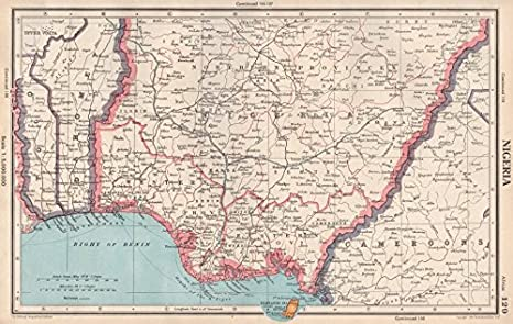 Amazon.com: NIGERIA. Dahomey (Benin) Fernando Po/Bioko ... on kingdom of scotland map, lesotho map, kingdom of zimbabwe map, confederate states of america map, iran map, pingelap map, fezzan map, new france map, bangladesh map, haute-volta map, africa map, british america map, benin map, world map, guadeloupe map, the ivory coast map, kingdom of kongo map, french colonial empire map, rio de oro map,