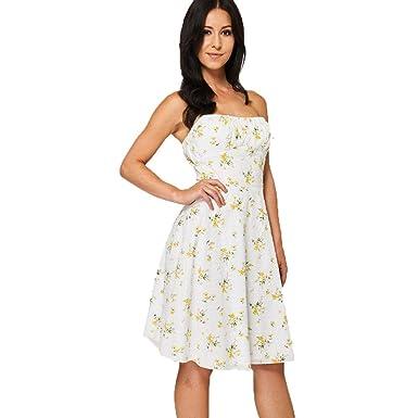 SendIt4Me White Strapless Summer Dress with