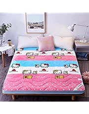 Shin Inklapbare Futon matras, Japanse opvouwbare tatami-matras, vloermat, antislip en ademend, 6 cm dik