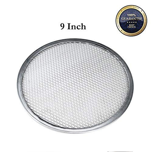 "9"" Pizza Screen Aluminum Pizza Pan Round Chef"