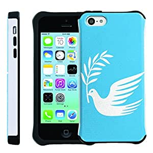 [ManiaGear] SLIM Rugged Hybrid Image Protector Cover (Dove of Peace) for Iphone 5C