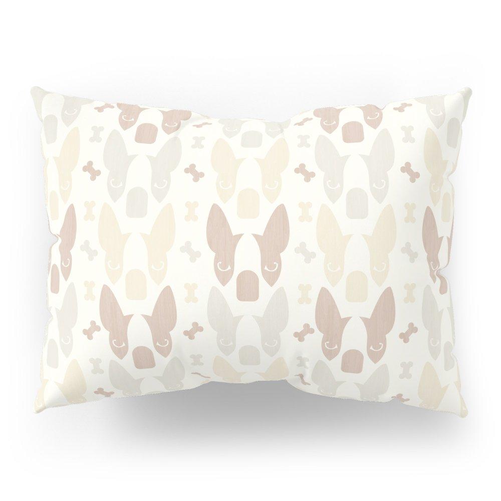 Society6 Boston Terrier Wood Pattern Pillow Sham Standard (20'' x 26'') Set of 2