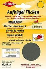 Kleiber - Parche de reparación termoadhesivo, de algodón, 40 x 12 cm, para Telas de Tejido Fino, Color Verde Oscuro