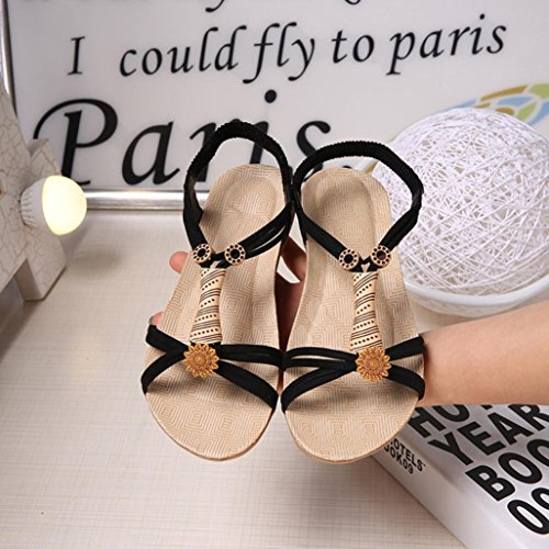 Ouneed Women Flat Shoes Lady Sandals Black aUeeECwaG