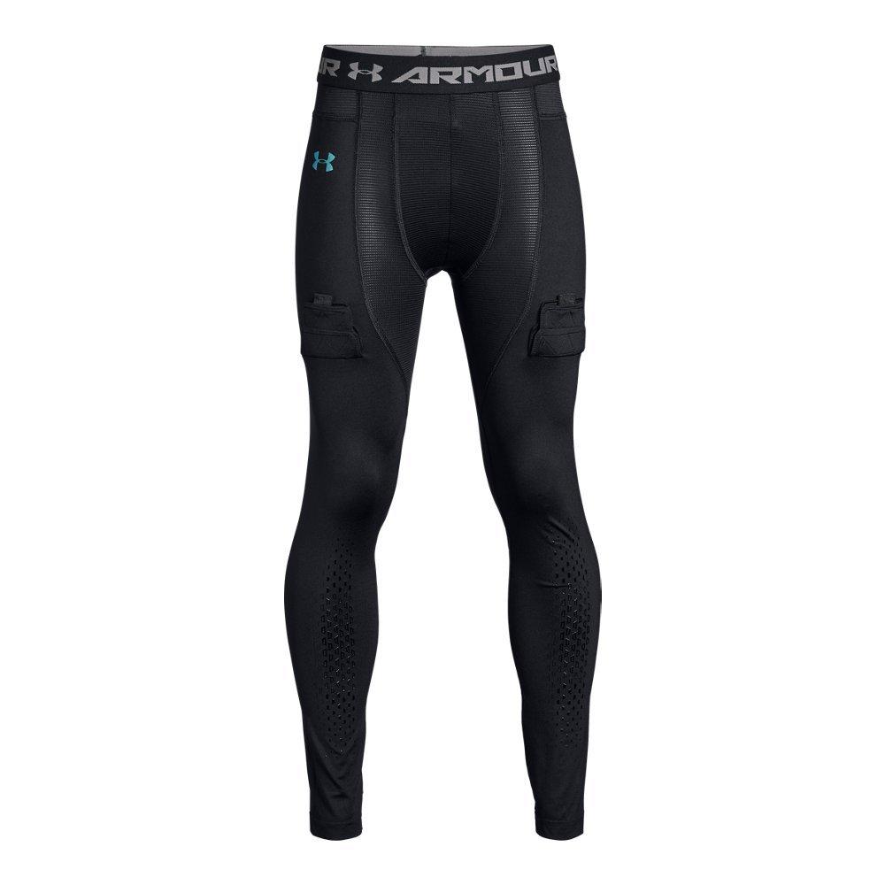 Under Armour Boys Hockey Compression Leggings, Black (001)/Iridescent Foil, Youth Medium