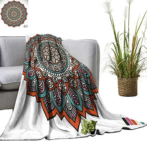 Wenhang home Plush Throw Blanket,Mandala,Blanket for Sofa Couch TV Bed All Season 35