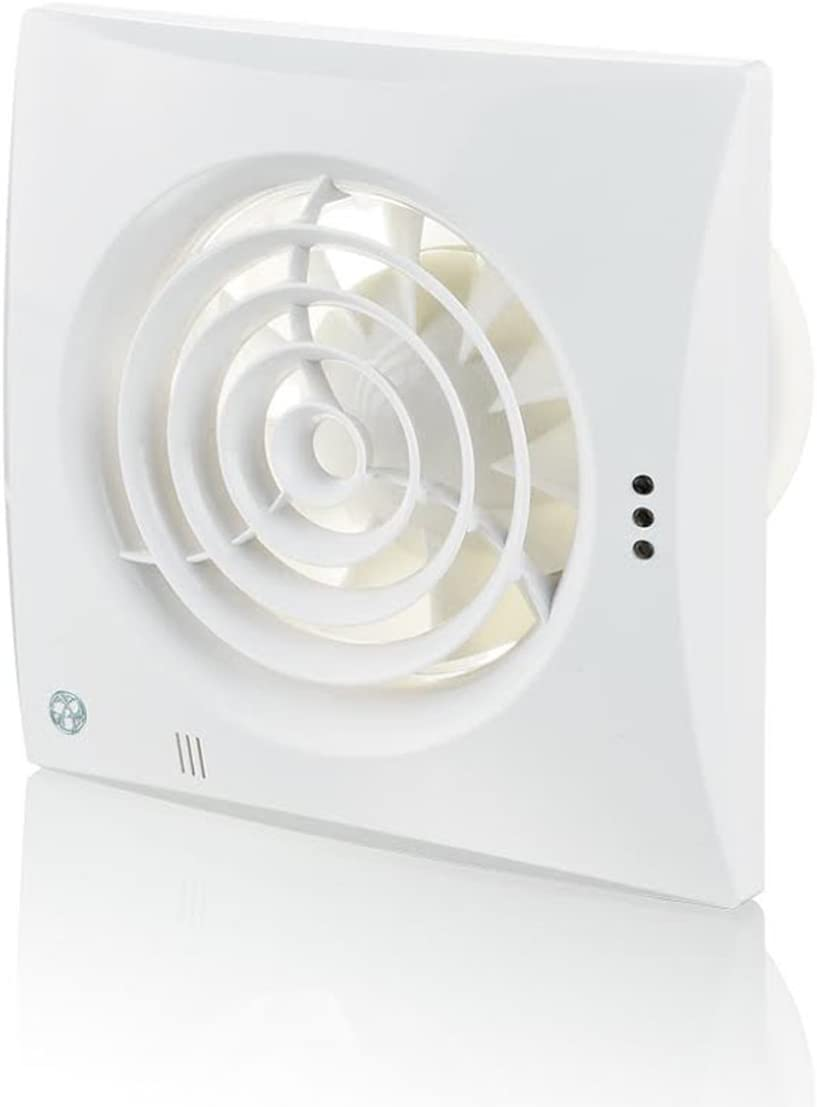 Blauberg UK 100 Silencioso T 100 mm ventilador Extractor con temporizador, color blanco brillante