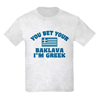 6d92dfb6 Amazon.com: CafePress Funny Greek Baklava Kids Light T Kids T-Shirt:  Clothing