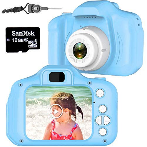 Micoo Kids Camera for Girls or Boys Age 3-12, 8 Mega Pixel Digital Dual Camera Rechargeable Children Camcorder with 2.8…