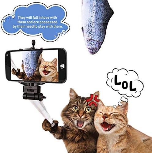 Juguete eléctrico para gato con diseño de pez que baila con sensor de movimiento 6