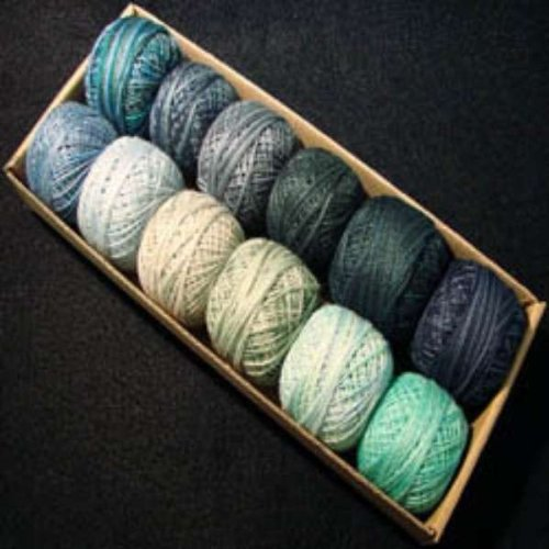 (Valdani Perle Cotton Size 8 Embroidery Thread Ocean Waves Sampler Set)