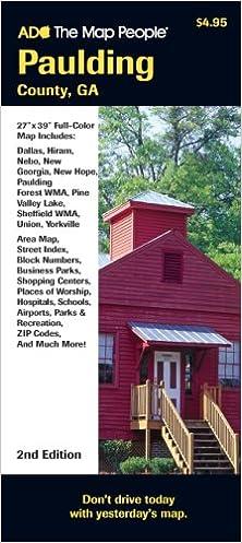 Paulding County Ga Map Folded American Map Corporation