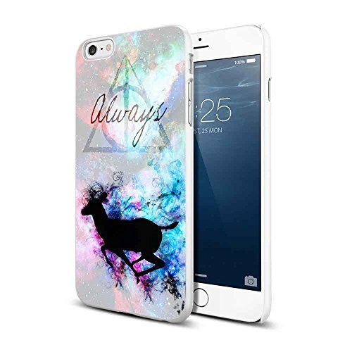 Harry Potter Deer Always For iPhone 6/6s Plus White (Harry Potter Cell Phone Case)