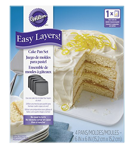 Wilton Easy Layers! Square Layer Cake Pans Set, 4-Piece