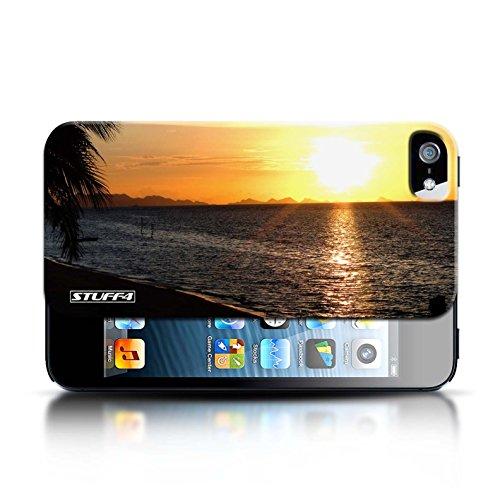 Etui pour Apple iPhone 5/5S / plage conception / Collection de Coucher du Soleil
