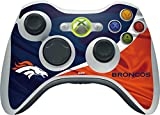 Skinit NFL Denver Broncos Xbox 360 Wireless Controller Skin - Denver Broncos Design - Ultra Thin, Lightweight Vinyl Decal Protection
